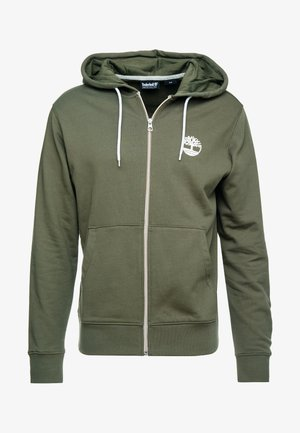 ZIP HOODIE - Huvtröja med dragkedja - grape leaf