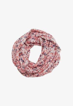 Snood - light pink multicolor floral aop