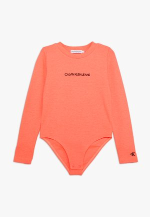 LOGO BODY - Long sleeved top - pink