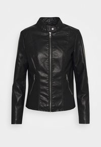ONLY - ONLMELISA FAUX JACKET - Veste en similicuir - black