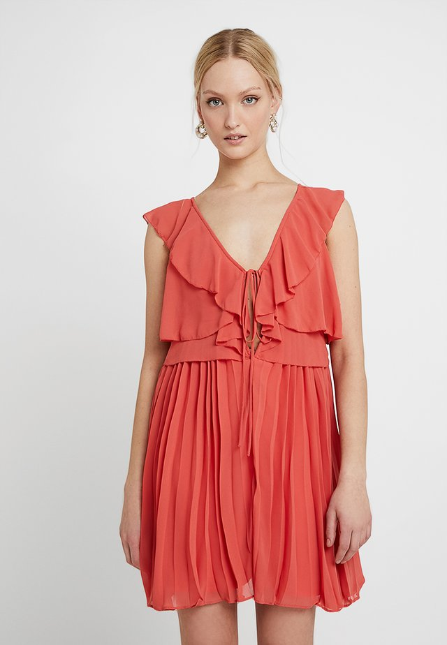 Cocktail dress / Party dress - bright coral
