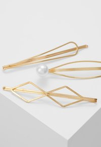 sweet deluxe - HAIR ACCESSORY 3 PACK - Hair Styling Accessory - gold-coloured/white - 4