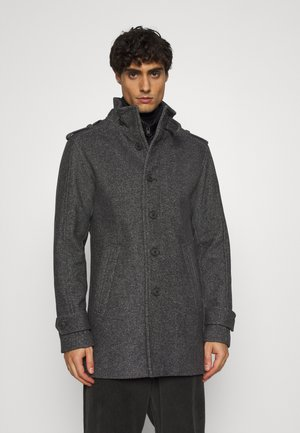 SLHNOAH COAT  - Kåpe / frakk - dark grey/salt/pepper