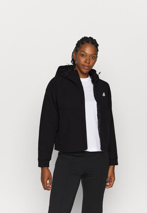 HOODED - Winter jacket - black/white