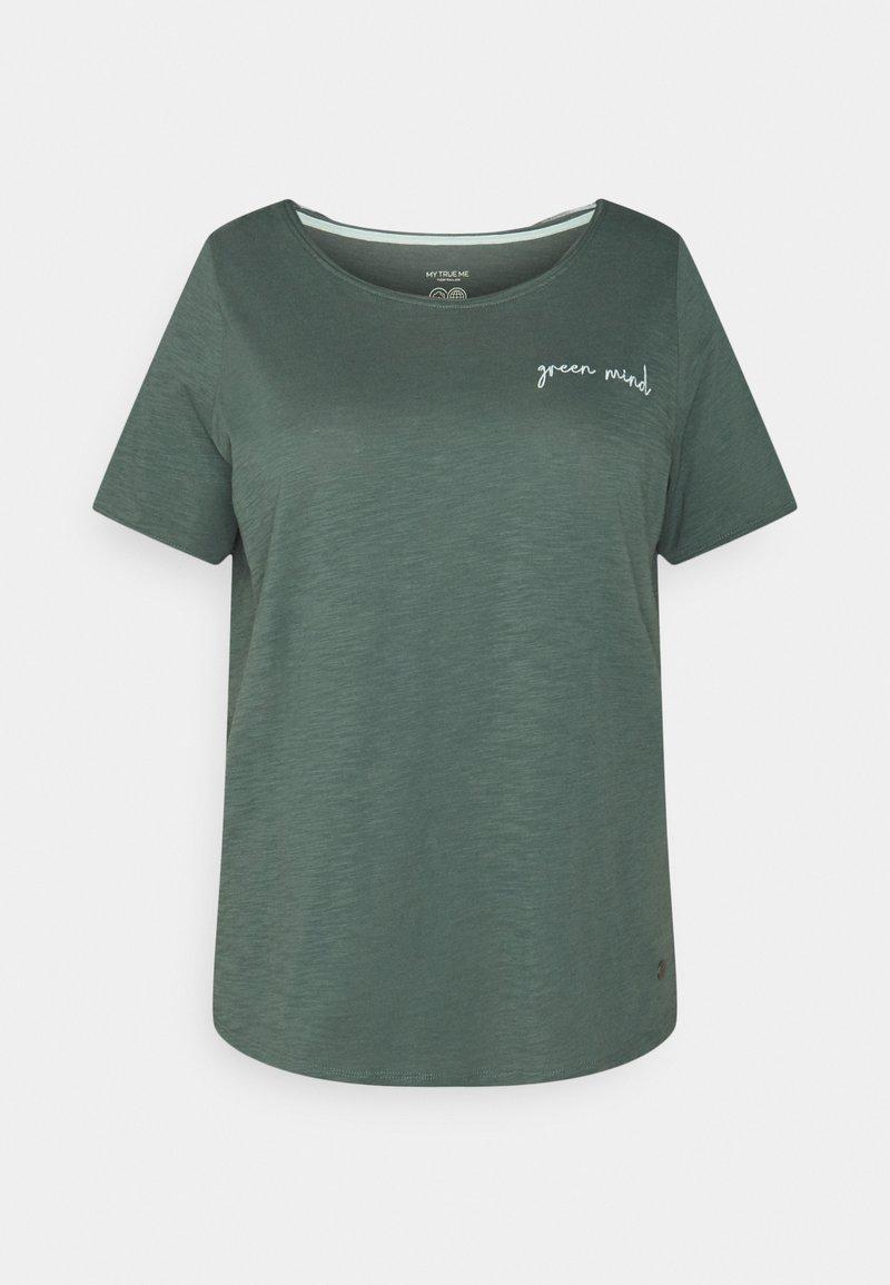 MY TRUE ME TOM TAILOR - FRONT ARTWORK - Print T-shirt - smart dark green
