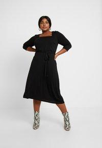 Dorothy Perkins Curve - 3/4 SLEEVE MIDI - Robe en jersey - black - 0