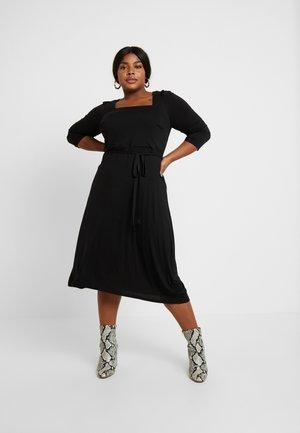 3/4 SLEEVE MIDI - Jersey dress - black