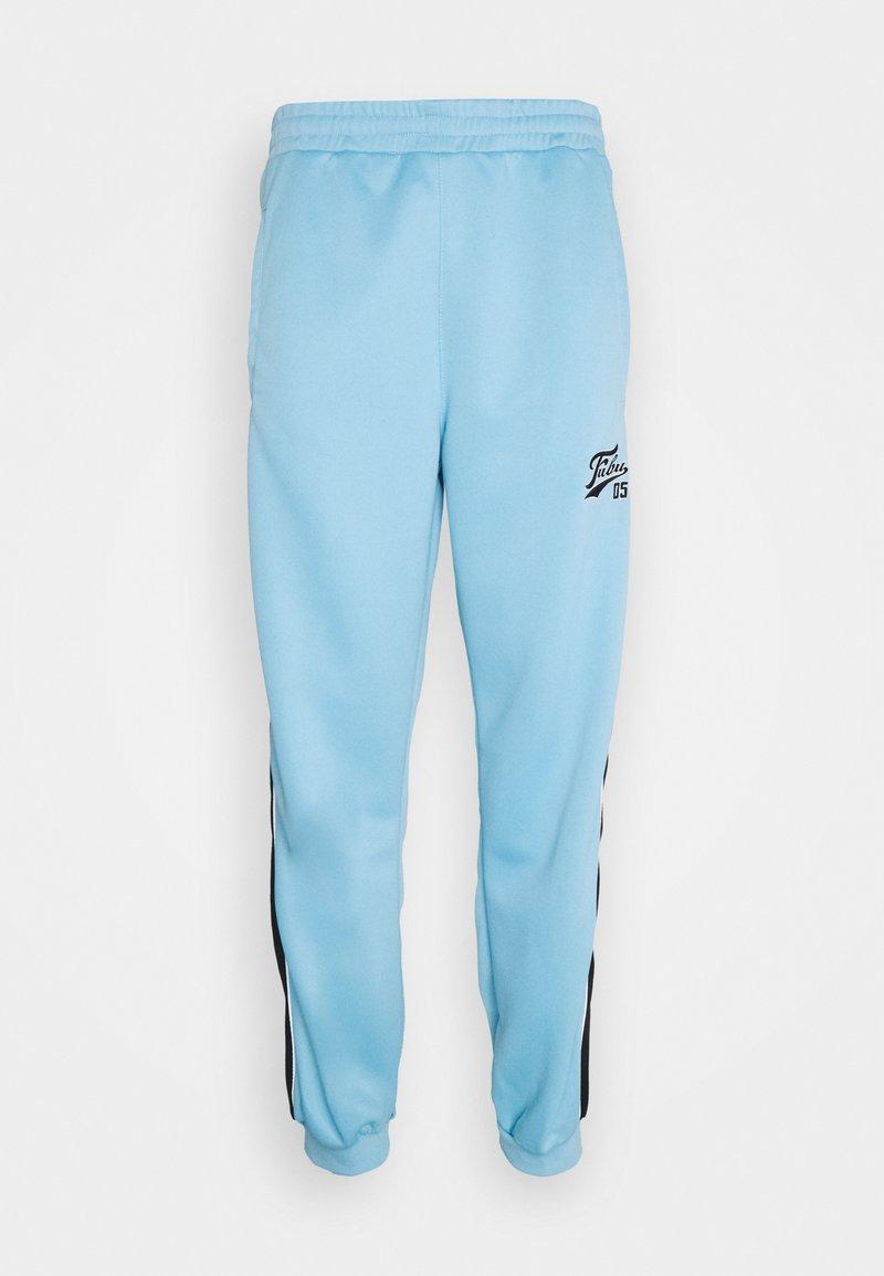FUBU - VARSITY TRACK PANTS - Pantaloni sportivi - lightblue