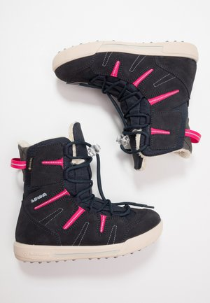 LUCY GTX - Winter boots - navy/fuchsia