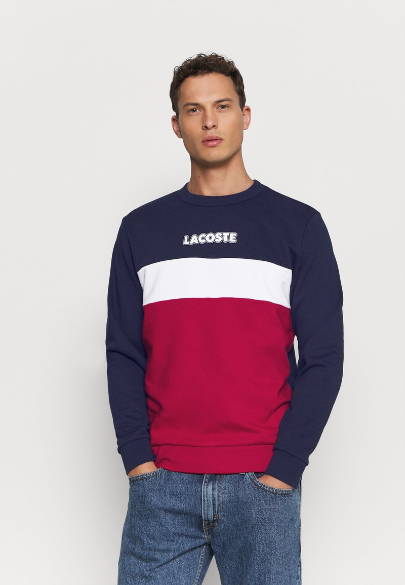 Lacoste - Sweatshirt - marine/rouge