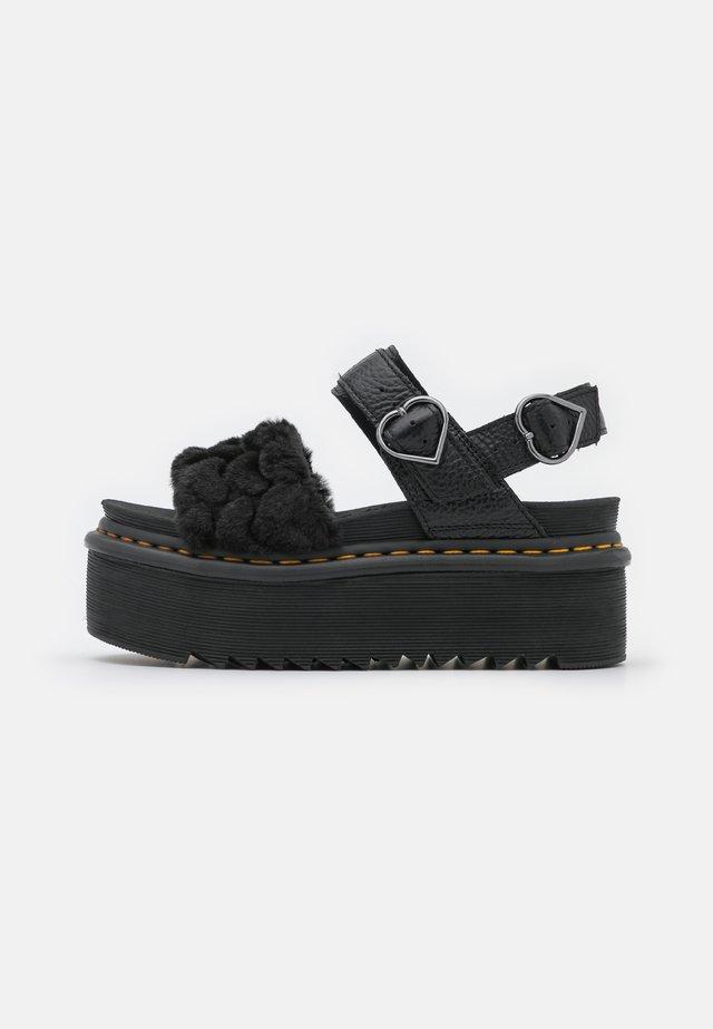VOSS QUAD FLUFFY - Sandály na platformě - black