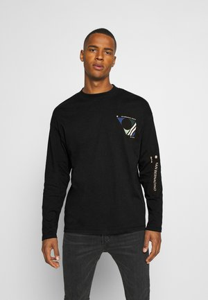 JORRAIL TEE HIGH NECK - Long sleeved top - black