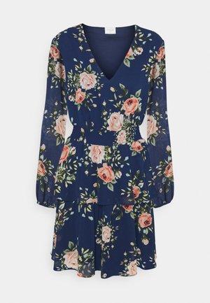 VIFULLA V NECK DRESS - Day dress - navy blazer