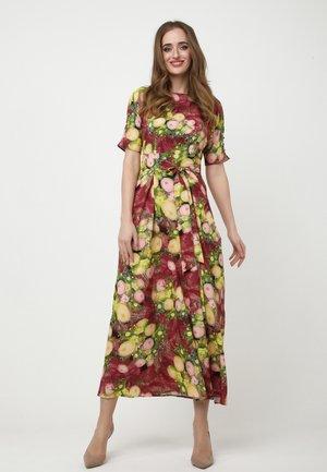 Maxi dress - wein rot/gelb