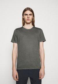 120% Lino - SHORT SLEEVE  - T-shirt basic - iron - 0