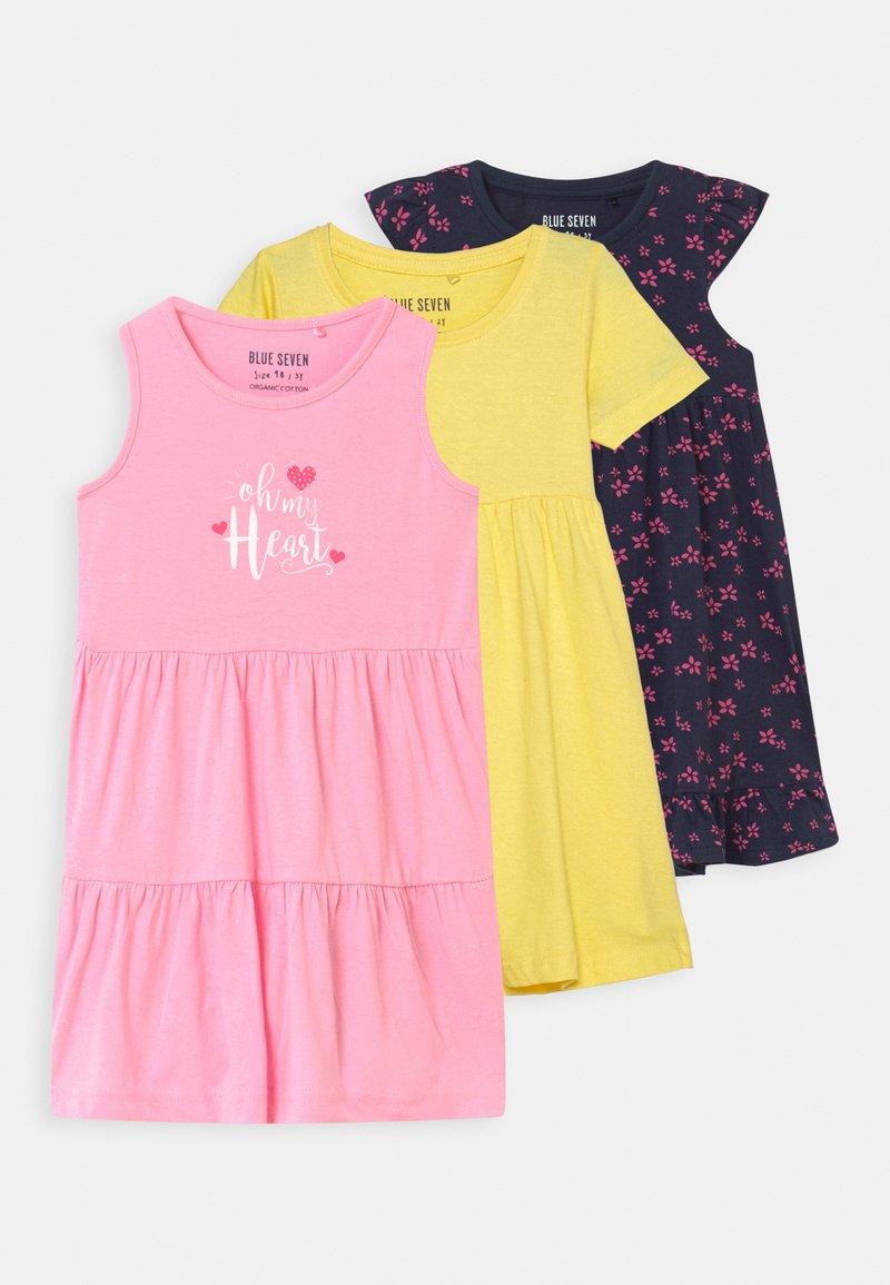 Blue Seven - SMALL GIRLS 3 PACK - Žerzejové šaty - multi