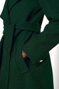 Dorothy Perkins - FUNNEL COLLAR GLOSSY COAT - Klassisk kåpe / frakk - green - 5