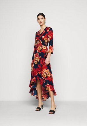 OBJBONITA WRAP DRESS - Day dress - sky captain