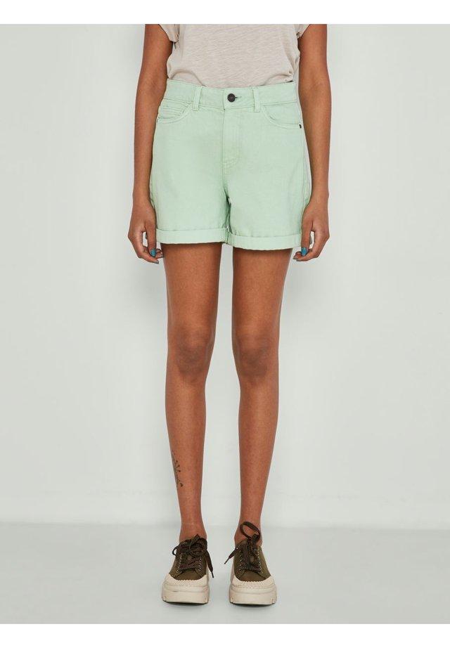 NMSMILEY - Shorts vaqueros - light green