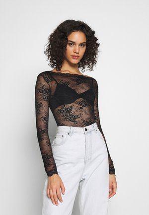 FLOWER BODY - Bluse - black