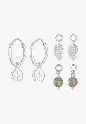 HOOPS MINIMAL PACK - Örhänge - silver-coloured