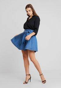 Vila - VIBISTA SHORT SKIRT - A-line skirt - dark blue denim - 1