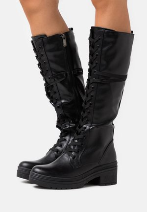 Platform boots - black antic