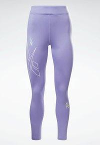 Reebok - MYT HIGH RISE LEGGINGS - Leggings - purple - 6