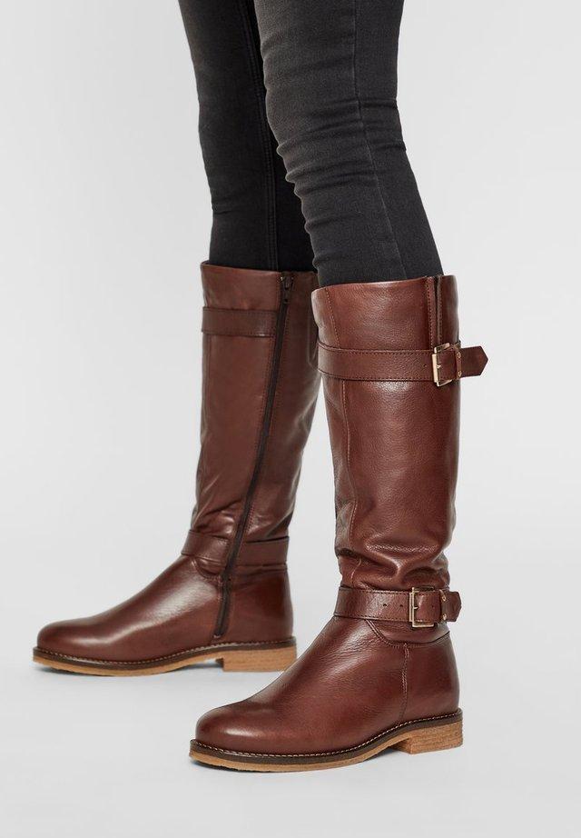 Cowboy/Biker boots - dark brown