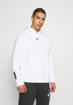 ZIGZAG HOODIE - Sweatshirt - white