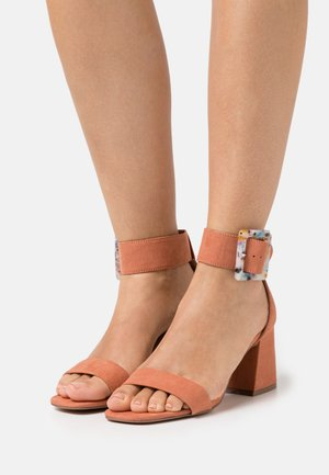 ONLHULA LIFE BUCKLE HEELED  - Sandals - pink