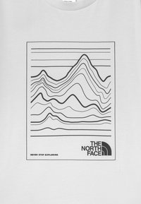 The North Face - YOUTH MOUNTAIN TEE UNISEX - T-shirt con stampa - white/black - 2
