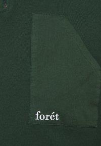 forét - Felpa aperta - dark green - 2