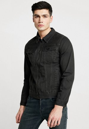 3301 ZIP SLIM JKT - Denim jacket - inza denim/raven