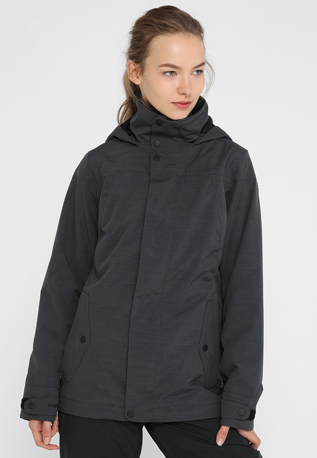 JET SET - Snowboardjas - true black heather