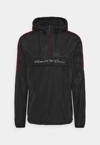 HARROW 1/4 ZIP WINDBREAKER - Summer jacket - black
