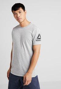 Reebok - TEE - Print T-shirt - grey - 0