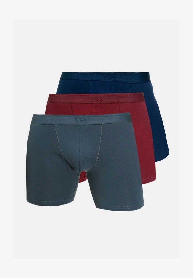 3 PACK - Pants - anthrazit/bordeaux/navy