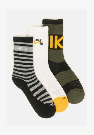 3 pack - Socks - black / white / black