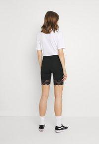 Gina Tricot - BASIC BIKER LACE 2 PACK - Shorts - black - 2