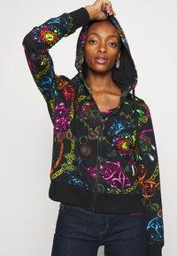 Versace Jeans Couture - Zip-up sweatshirt - black/multi - 6