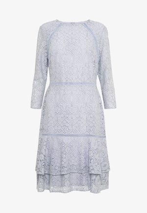 CHINE DRESS TRIM - Day dress - toile blue/black