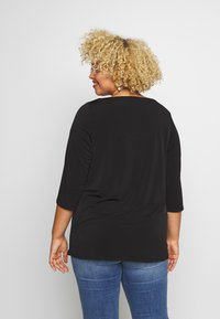 Dorothy Perkins Curve - BUTTON THROUGH ITY - Long sleeved top - black - 2