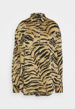 ALINA - Button-down blouse - camel multi