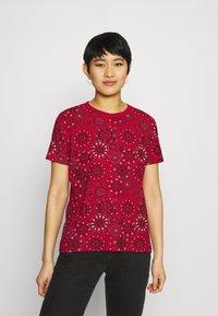 Desigual - LYON - Print T-shirt - red - 0
