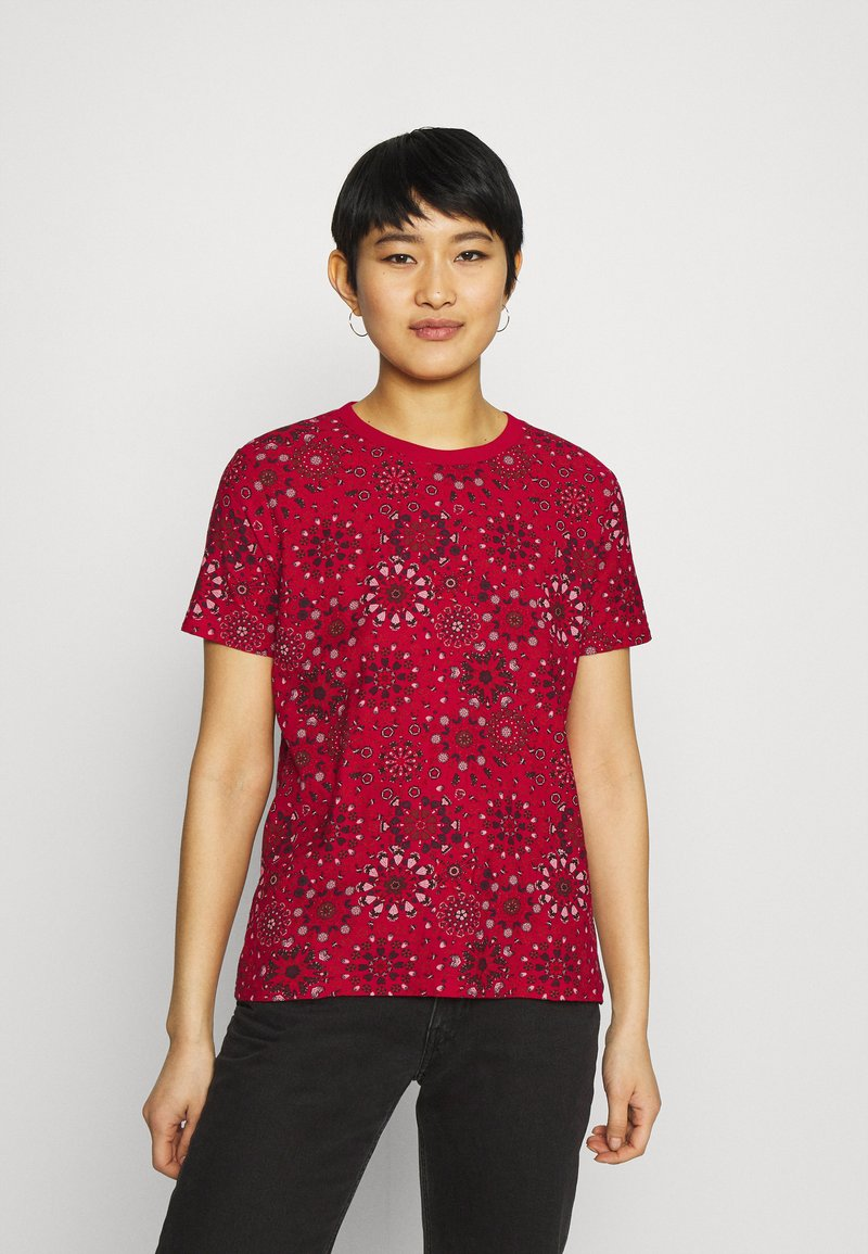 Desigual - LYON - Print T-shirt - red