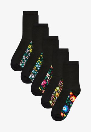 FOOTBED SOCKS 5 PACK - Socks - anthracite