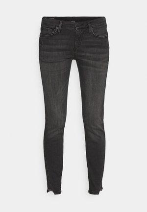 HALLE TRIANGLE CUT ON LEG - Skinny džíny - black