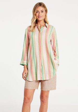 Button-down blouse - sahara/botanical/rasberry