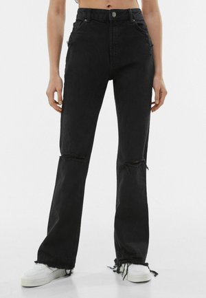 MIT RISSEN 00053534 - Flared Jeans - black denim